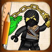 学画画LEGO ninjago战士版
