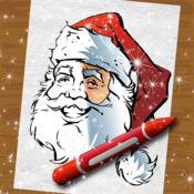 如画 填 色 本 书 圣诞 精神 手指 艺术 创意 页面 对于 孩子们