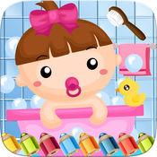 小宝宝彩图世界画画游戏的孩子