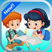 小男孩和女孩着色页儿童