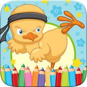 小鸡彩图绘画和漆艺工作室游戏的孩子复活节