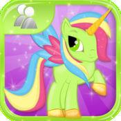 小魔麒  麟短跑:我可爱的小马公主与鲨鱼龙卷风攻击游戏 - 免费多人