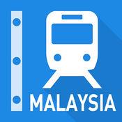 马来西亚铁路线图 - 吉隆坡、婆罗洲和全马来西亚
