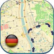 德国离线路线图 指导 (免费版与柏林 汉堡 德累斯顿) (Germ