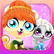 Pet Shop Salon 2. 游戏打扮的宠物的女孩 可爱的宠物女孩 现在装扮你的宠物