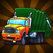 城市垃圾处置卡车疯狂的比赛:清洁小镇 - 免费版