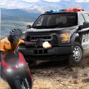 市警官大通和逮捕罪犯3D