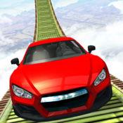 不可能的车轨3D。 天空之路