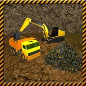 黄金挖掘机起重机和重型机械驾驶 1
