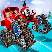 拖拉机trax雪特技 - 3d赛车游戏 1