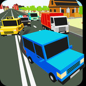 Blocky Traffic Racer HD - 推动美丽的像素城