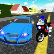 交通警察自行车追逐3D