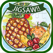 活泼的水果拼图益智游戏