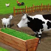 牲畜饲料成长中的游戏