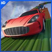 不可能的轨道汽车驾驶3D