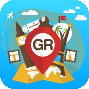 希腊 离线旅游指南和地图。城市观光 雅典,罗兹,圣托里尼,