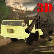 登录转运货物的卡车3D - 是真正的卡车司机在树林里,享受模