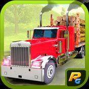 测井车 - 一个免费的驾驶模拟器木材和木材货物运输车 1