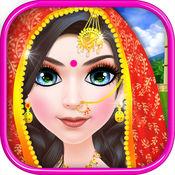 印度女孩化妆沙...