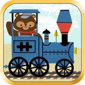 儿童火车游戏:动物园铁路汽车拼图 - 对于教育 1.1