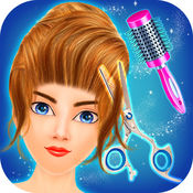 女子理发沙龙 - 发型化妆游戏 1