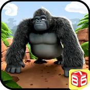大猩猩运行 - 丛林冲浪者游戏 1