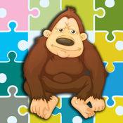 大猩猩游戏 - 大猩猩和朋友的拼图 1
