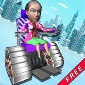 奶奶特技拉力赛 - 有趣的奶奶赛车为孩子们 1