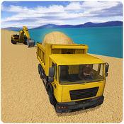 交通运输河砂 - 三维城市转运卡车司机模拟器游戏 1.0.1