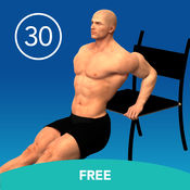 男子三头肌浸30天免费的挑战 1