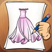 学画画服装和服...