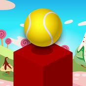 多维数据集跳球游戏 - 高在天空中达到发挥这无尽的块堆叠