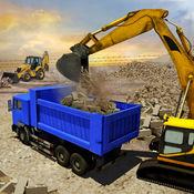 城市建设者施工起重机操作员3D:驱动器泥头车和挖掘机起重机