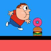让饥饿的孩子们跳 - 跑和跳过去的障碍! 1