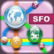 旧金山(美国)地图 - 下载Muni路线图和旅游指南 4.7.1