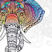 曼荼罗着色书色彩疗法的成年人 1.1