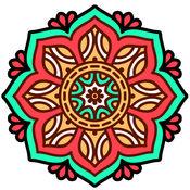 成人着色书-免费的曼荼罗颜色治疗压力缓解页 1