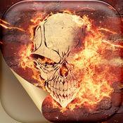 火头骨壁纸和主题 – 幽灵般的骨架的背景对于主屏幕锁屏和