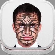面对部落烤漆设计 – 美丽的纹身的想法和图腾符号的脸装饰