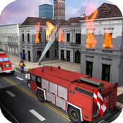 消防队员卡车模拟 - 救援911驾驶。 1