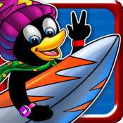 超级冲浪企鹅 - 疯狂的浪潮冲浪短跑(免费游戏) 1