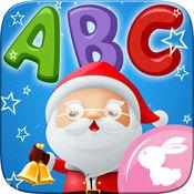 學英文 Abc 字母表 追踪 容易 绘制 颜色 圣诞节那天 1