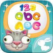 學英文 ABC 字母表 追踪 字母 家庭 学校 勉強 孩子们 游戏