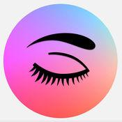 美丽的大眼睛:免费视频教程,技巧和案例眼部化妆的女孩