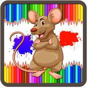 小孩的小老鼠着色书游戏 1