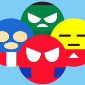 超级英雄的绘文字转转乐大作战 - 颜文字表情符号的游戏等