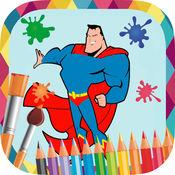 超级英雄画 - 图画书绘制和油漆的超级英雄的图片 1.2