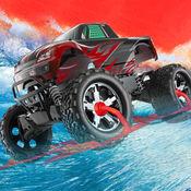 冲浪怪物卡车-3d波特技赛车游戏 1