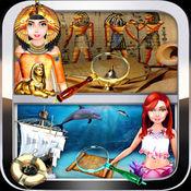 埃及与水下文明隐藏的对象的益智游戏 1