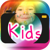画上的照片孩子 1